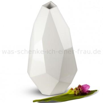 Design-Deko-Vase-Diamant-weiss