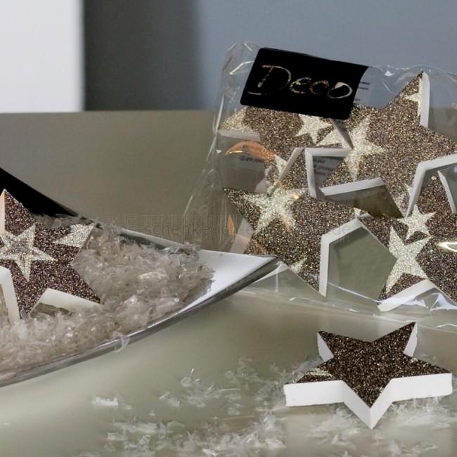 casablanca weihnachtsdeko 4 tlg set ornamente stern in. Black Bedroom Furniture Sets. Home Design Ideas