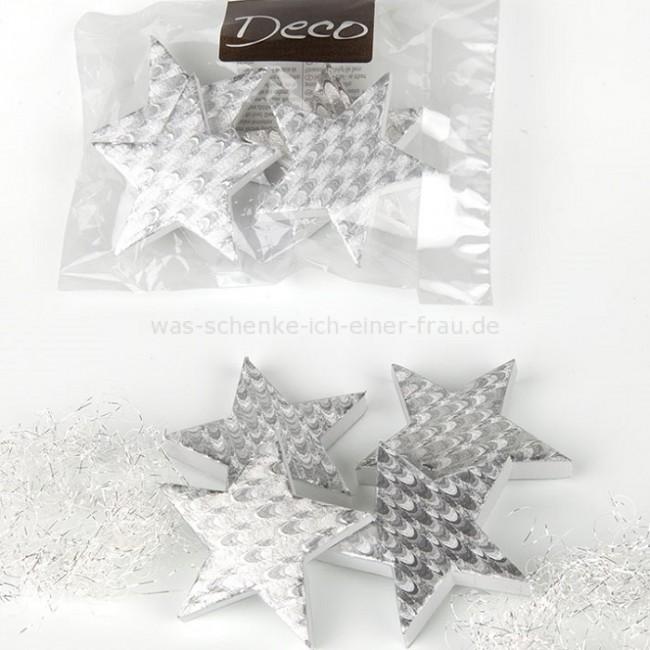 casablanca weihnachtsdeko ornamente stern in silber. Black Bedroom Furniture Sets. Home Design Ideas