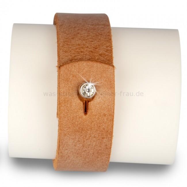Lederarmband verschluss  Armband braun mit Strass Verschluss