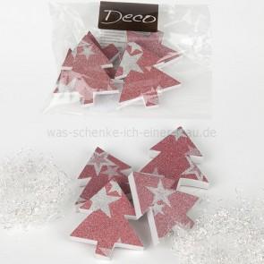 Casablanca Weihnachtsdeko Tanne metallic rot