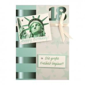 EigenArt_Grusskarte_Geburtstagskarte_zum_18_Geburtstag_Die_grosse_Freiheit_beginnt