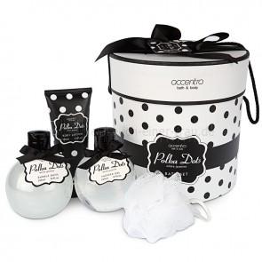 Geschenkset Pflegeset Polka Dots in Hutschachtel
